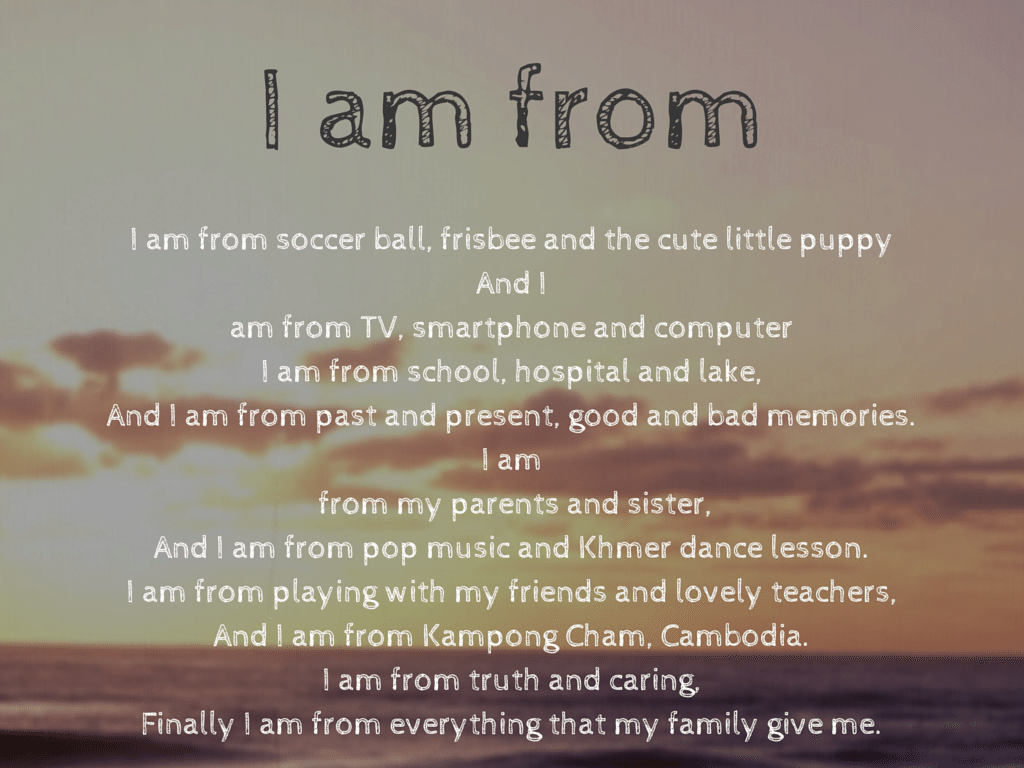 My I am from poem.